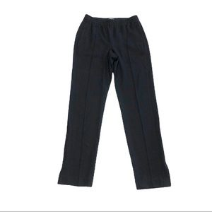 Theory black track pants ski high-waist pull on 4